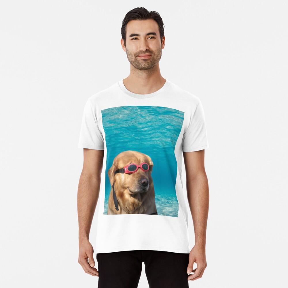 Swimmer Dog Premium T-Shirt