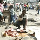 Meat Kinshasa Congo by Rune Monstad