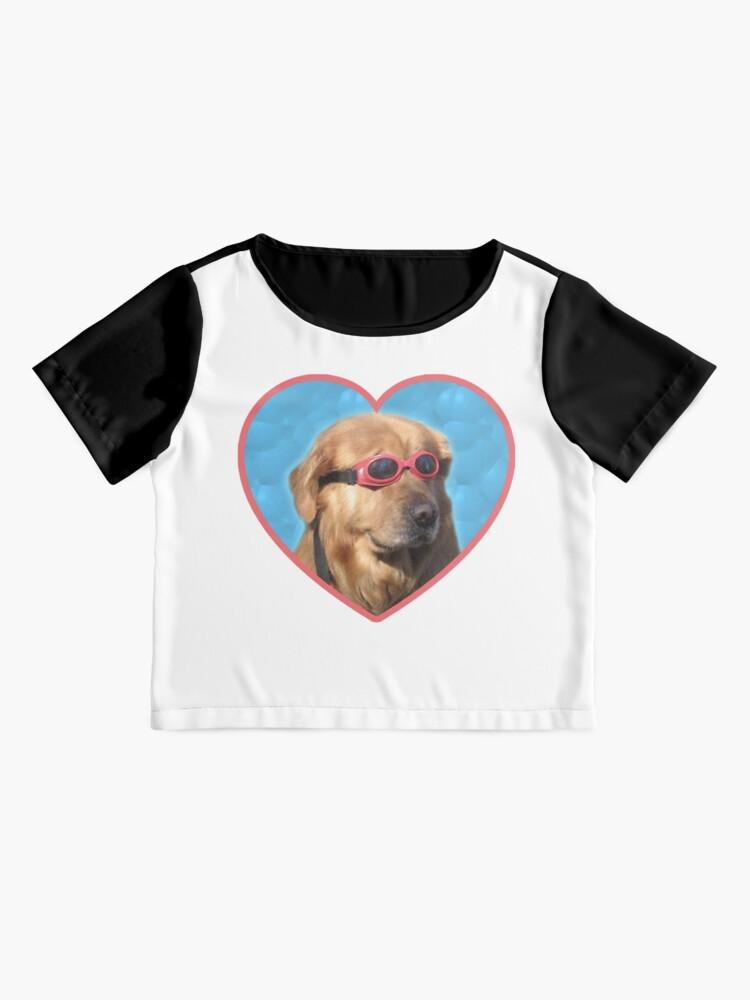 Alternate view of Doggo Stickers: Swimmer Dog Chiffon Top