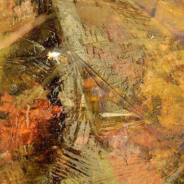 Leaves Beneath Ice by elaine226