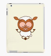 Brown sheep meditating in lotus pose iPad Case/Skin