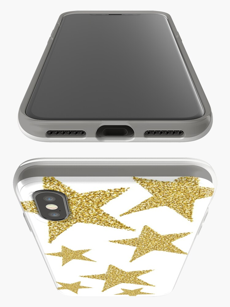 Alternative Ansicht von goldene Glitzersterne iPhone-Hülle & Cover
