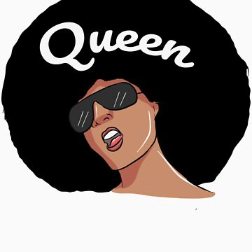 afro queen black woman by rkhy