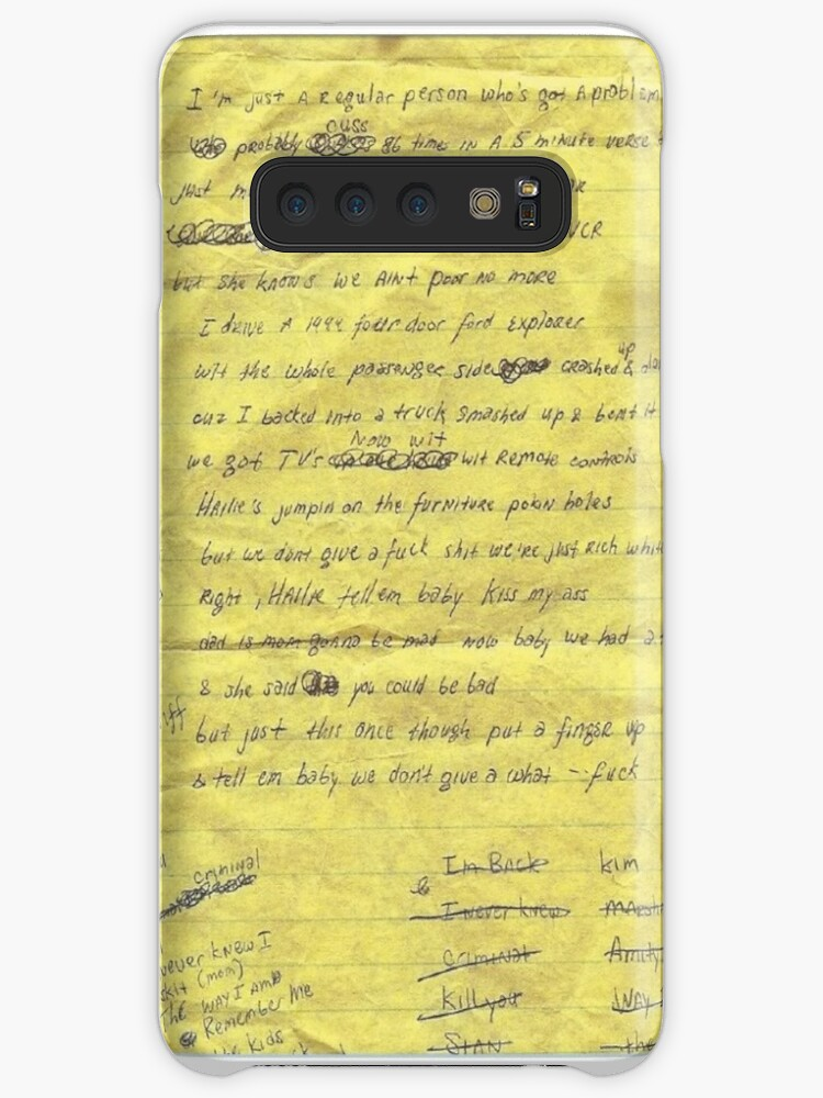 'EMINEM LYRICS' Case/Skin for Samsung Galaxy by TIMGILLAM