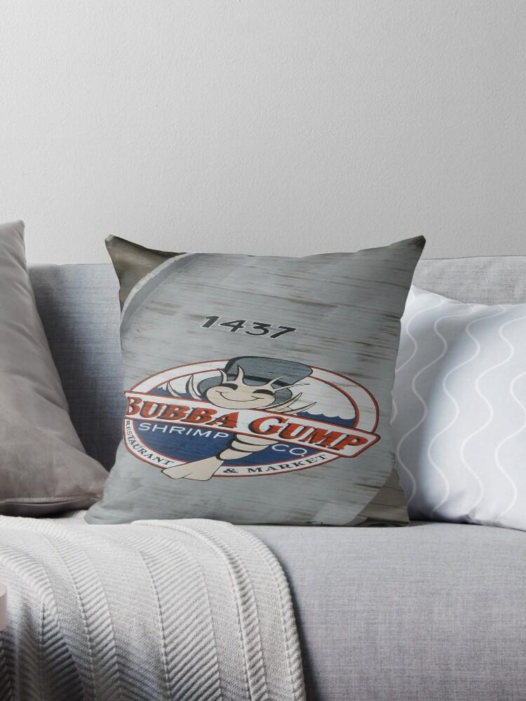 "Bubba gump"" Throw Pillows by DanaSchultz"