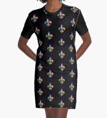 Fleur De Lis Mardi Gras Karneval Lilie  T-Shirt Kleid
