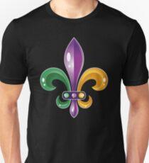 Fleur De Lis Mardi Gras Karneval Lilie  Unisex T-Shirt