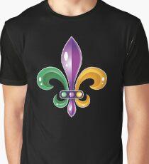 Fleur De Lis Mardi Gras Karneval Lilie  Grafik T-Shirt