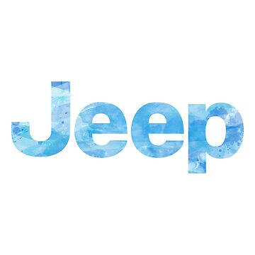 Jeep Blue Watercolor by livpaigedesigns