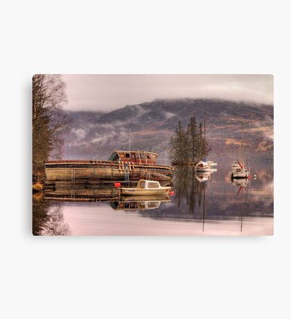 Morning reflections of Loch Ness Canvas Print