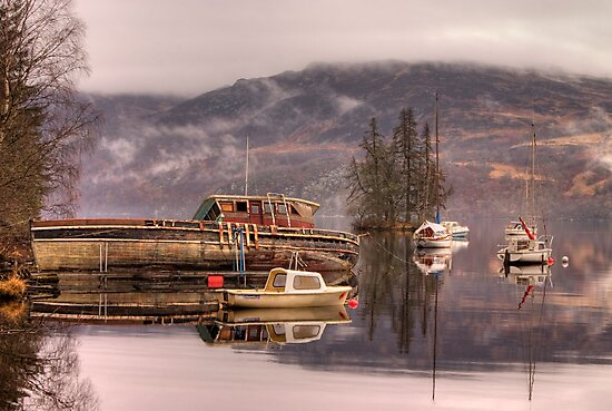Morning reflections of Loch Ness by Ian Middleton