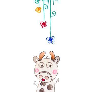 HAPPY COW BOOKMARK by karmadesigner