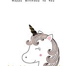 Sweet unicorn - Happy Birthday by grafart