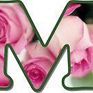 Letter M Rose Monogram by gretzky
