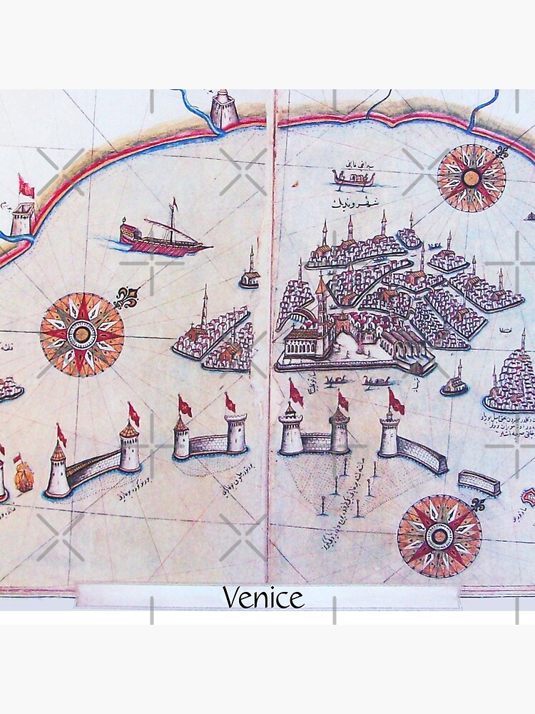 PIRI REIS MAPS FROM BOOK OF NAVIGATION City of Venice 1515 by BulganLumini