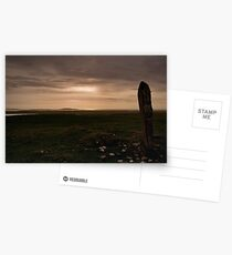 Berneray: Clach Mhor Standing Stone Postcards