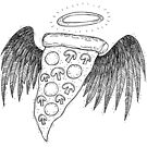 Heilige Pizza von inkedinred