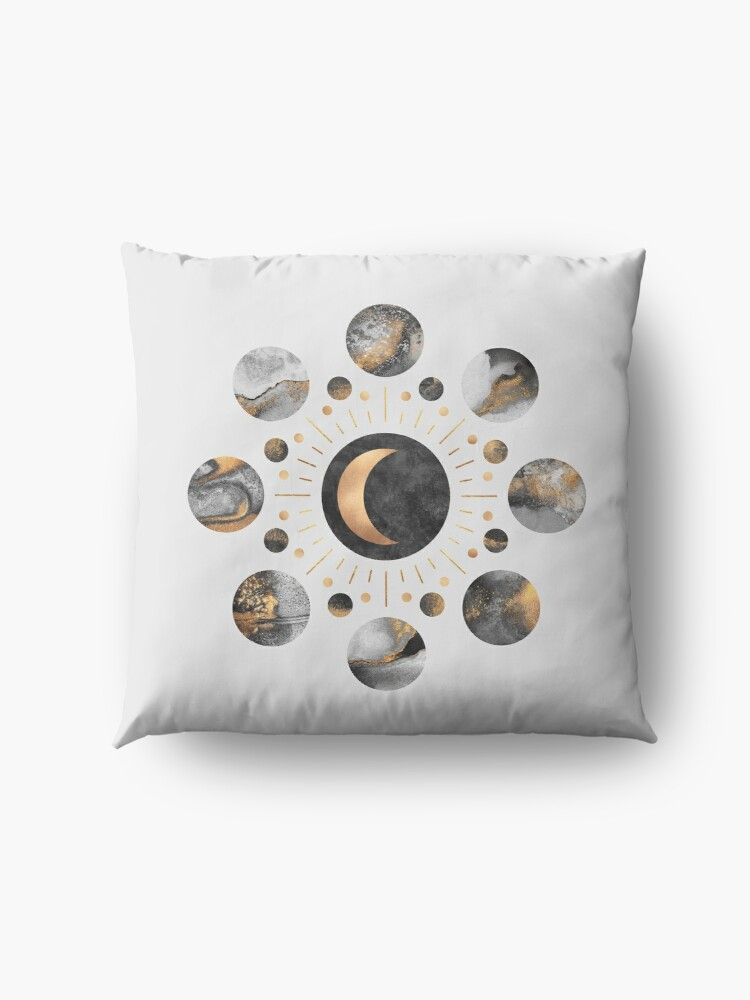 Alternate view of Moons Floor Pillow