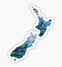 NEW ZEALAND MAP SIMPLE PAUA Sticker