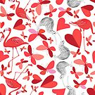 Beautiful holiday pattern for the Day of all lovers  by Tanor