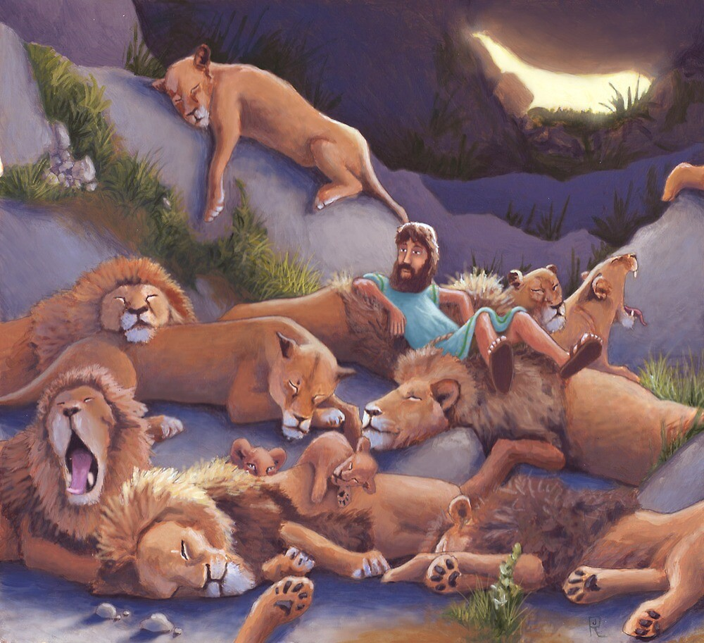 Daniel and the Lion's Den by jrutland