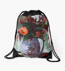 Marigolds Gone Wild Drawstring Bag