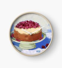 Raspberry Cream Cake Clock