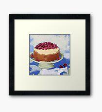 Raspberry Cream Cake Framed Print