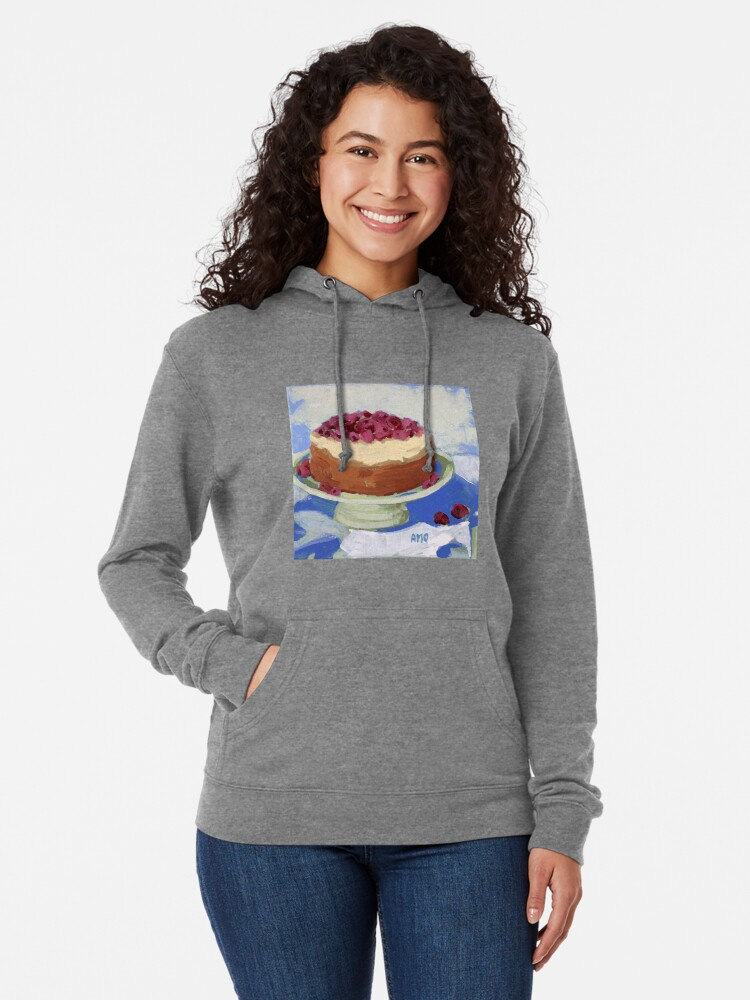 Alternate view of Raspberry Cream Cake Lightweight Hoodie