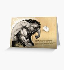 Tusk, the Elephant Man Greeting Card