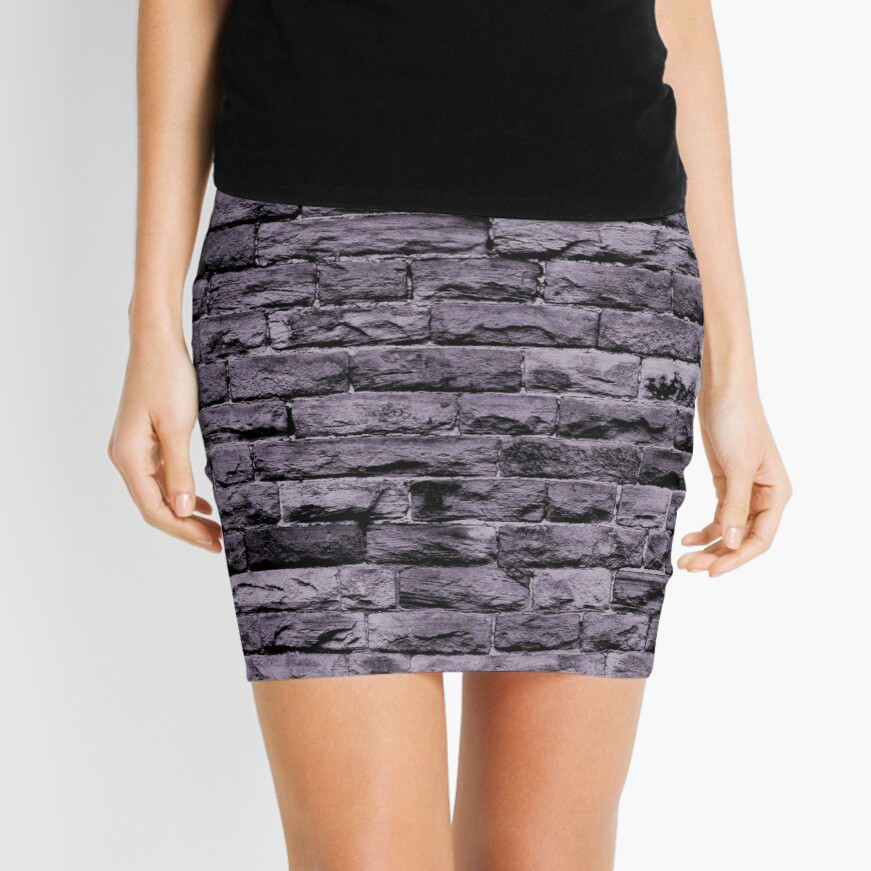 Bricks texture Mini Skirt