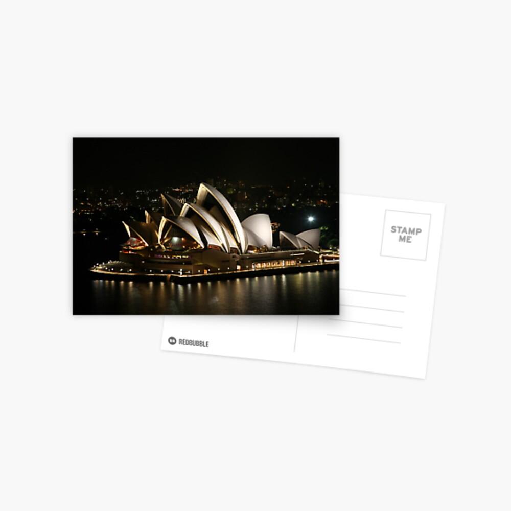 Opera House at Night, Sydney, Australia Postcard