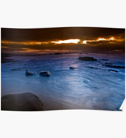 Dawn at The Caves Poster
