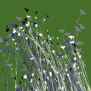 Tahoe Wildflowers Green by BryanSoCal