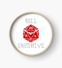 Roll Initiative Dungeons & Dragons gift idea Clock