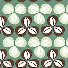 Green three leaf clover by Annette Kraus