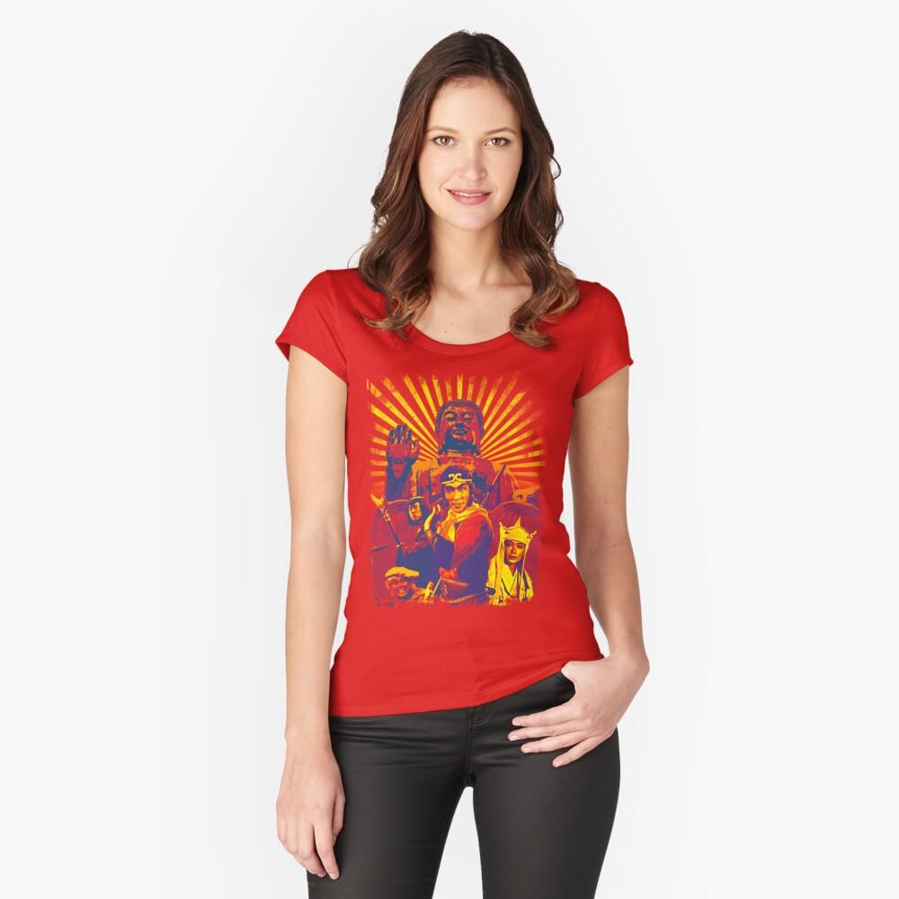 ¡MONKEY MAGIC! (Ardiente) Camiseta entallada de cuello ancho