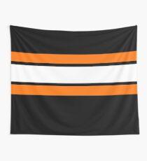 Team Colours 2 .... Orange, weiß und schwarz Wandbehang