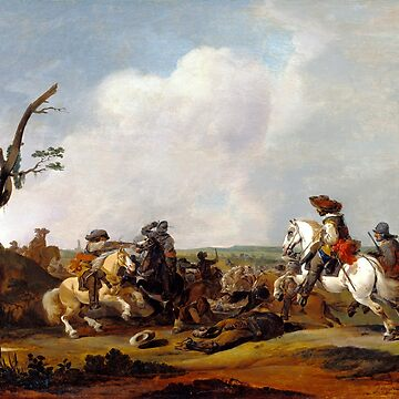 Johannes Lingelbach Battle Scene by pdgraphics