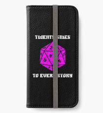 Dungeons & Dragons 20 sides to Every Story iPhone Wallet/Case/Skin