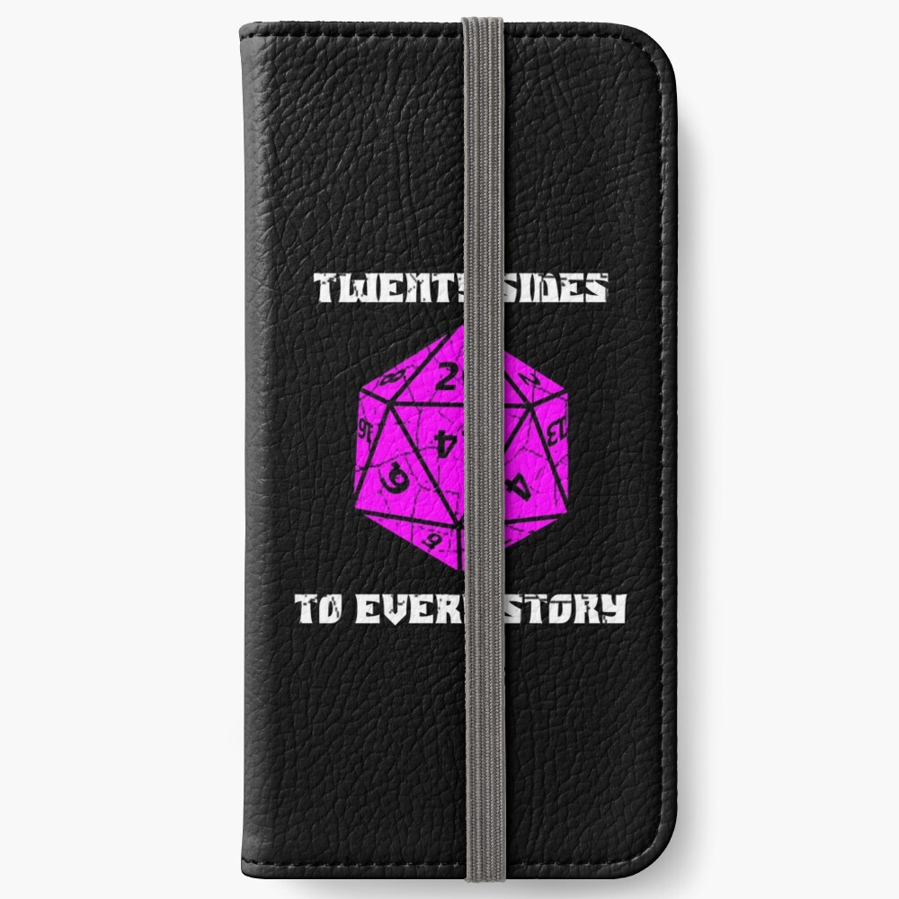 Dungeons & Dragons 20 sides to Every Story iPhone Wallet