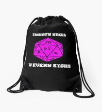 Dungeons & Dragons 20 sides to Every Story Drawstring Bag