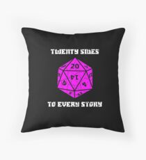 Dungeons & Dragons 20 sides to Every Story Throw Pillow