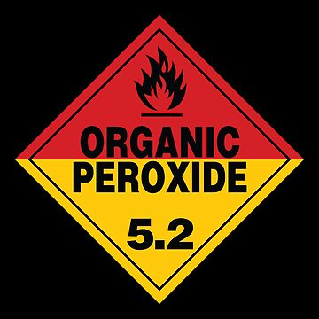 Organic Peroxide Warning Sign by rupertrussell