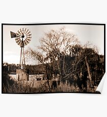 lonely windmill. Poster