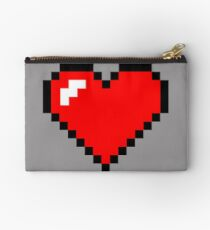 Single 8-Bit Heart Container Studio Pouch