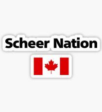 Andrew Scheer Nation Conservative Red Canadian Flag Light-Color Sticker