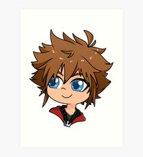 Kingdom Hearts 3 Drawing Art Prints Redbubble