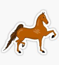 Three Gaited Chestnut Saddlebred Sticker