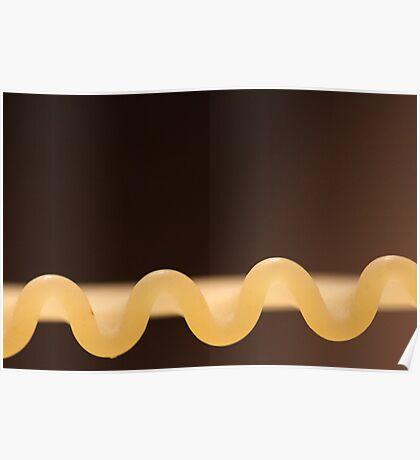 Curly Fettucini Pasta Poster